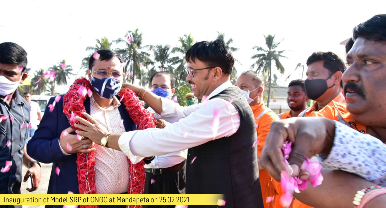 Inauguration of Model SRP of ONGC