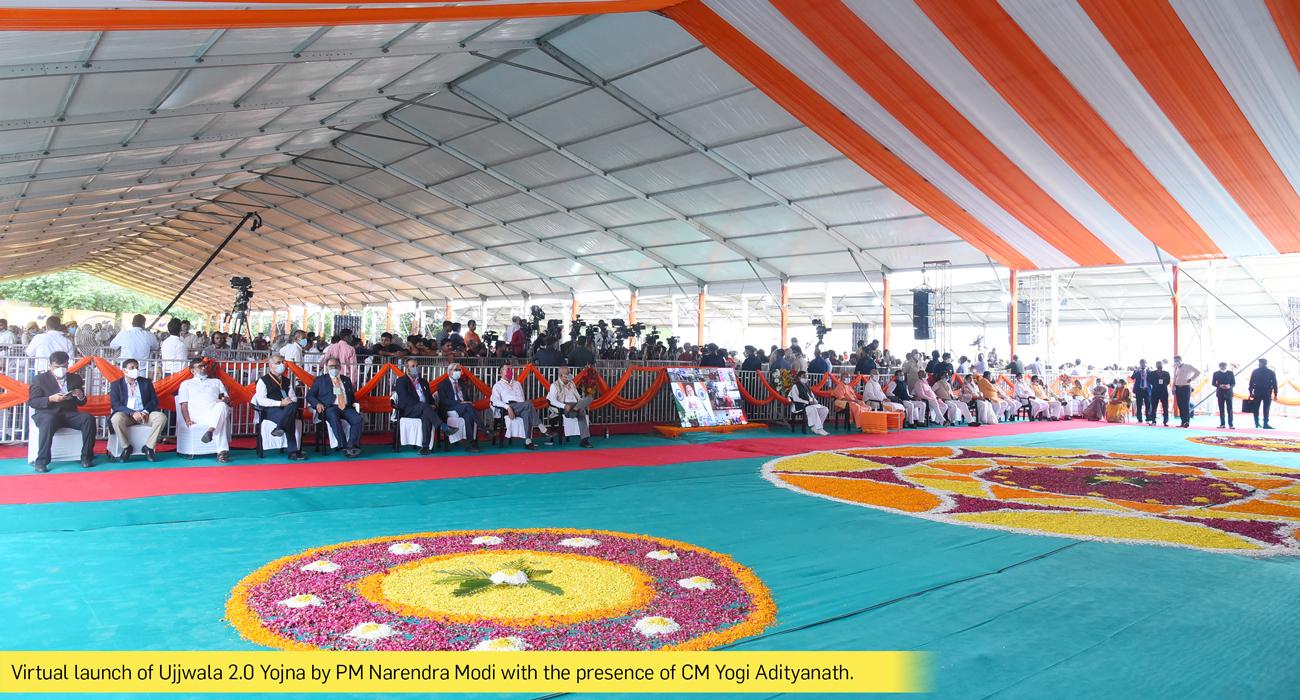 Virtual launch of Ujjwala 2.0 Yojna by PM Narendra Modi with the presence of CM Yogi Adityanath