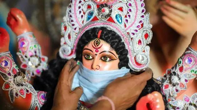 Durga Statue Mask
